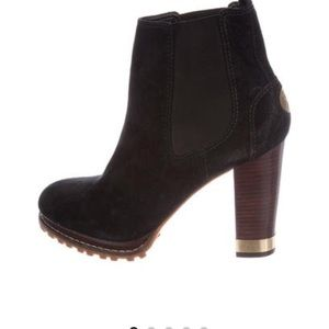 NEW Tory Burch Black Suede Platform Boots 11